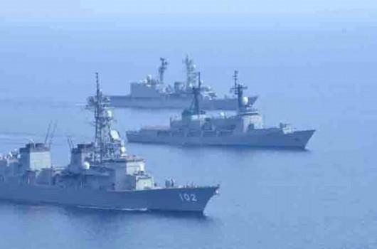 南海争议海域举行首次