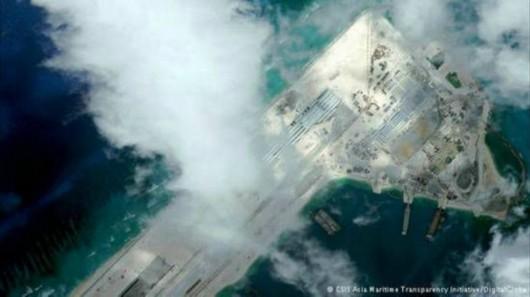 第一个在南中国海修建飞机跑道的国家,它却是第一个利用填海造岛技术