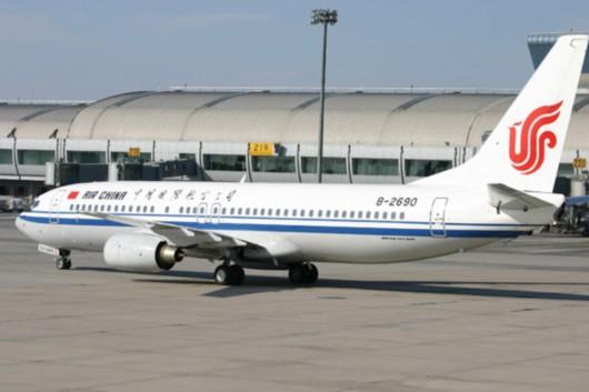 图片说明:中国国航波音737客机