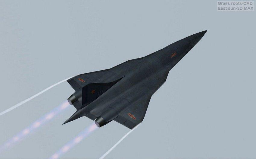 网友设想中国高超音速飞行器猛图:外形像梭镖图片